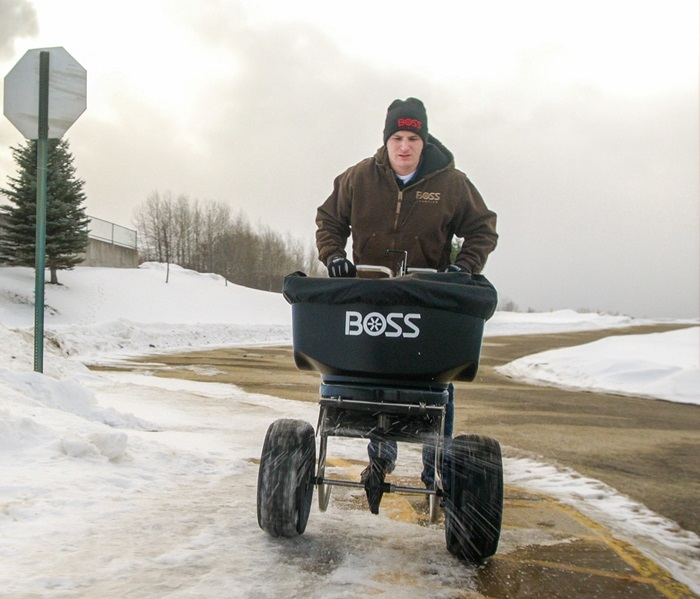 BOSS SNOWPLOW WBS15850 Walk Behind Spreader Image