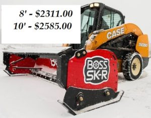 BOSS SNOWPLOW BOX PLOW W/RUBBER CUTTING EDGE 10