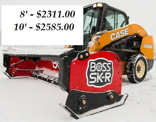 BOSS SNOWPLOW BOX PLOW W/RUBBER CUTTING EDGE 8