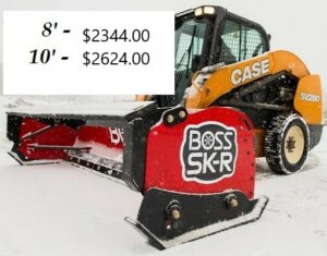 BXP16408 - BOSS SNOWPLOW BOX PLOW W/RUBBER CUTTING EDGE 8