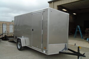 6 x 12 US CARGO V-NOSE PEWTER